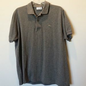 Gray Lacoste Classic Fit polo